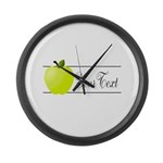 Personalizable Green Apple Large Wall Clock