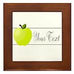 Personalizable Green Apple Framed Tile
