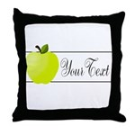 Personalizable Green Apple Throw Pillow
