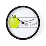 Personalizable Green Apple Wall Clock