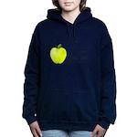 Personalizable Green Apple Women's Hooded Sweatshi