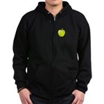 Personalizable Green Apple Zip Hoodie