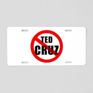 No Ted Cruz Aluminum License Plate