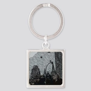 Gothic City Square Keychain