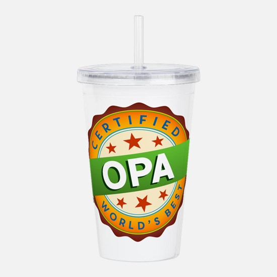 World's Best Opa Acrylic Double-wall Tumbler