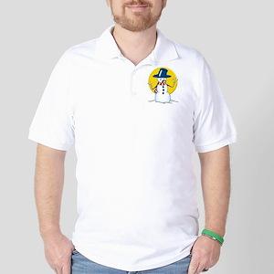 Evil Snowman Golf Shirt