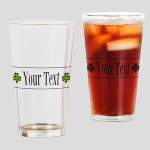 Personalizable Green Shamrock Drinking Glass