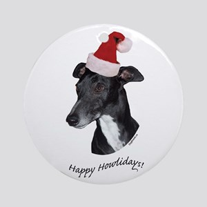 Howliday Whippet Ornament (Round)