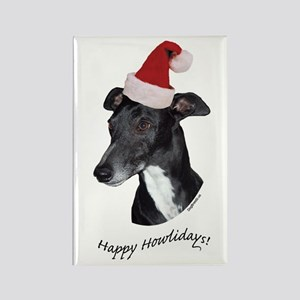 Howliday Whippet Rectangle Magnet