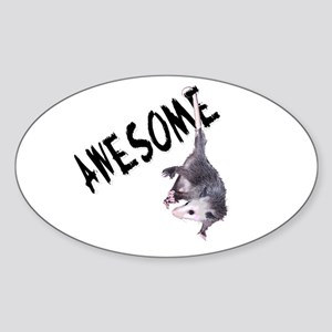 Awesome Possum Oval Sticker