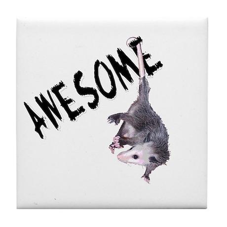 Awesome Possum Tile Coaster