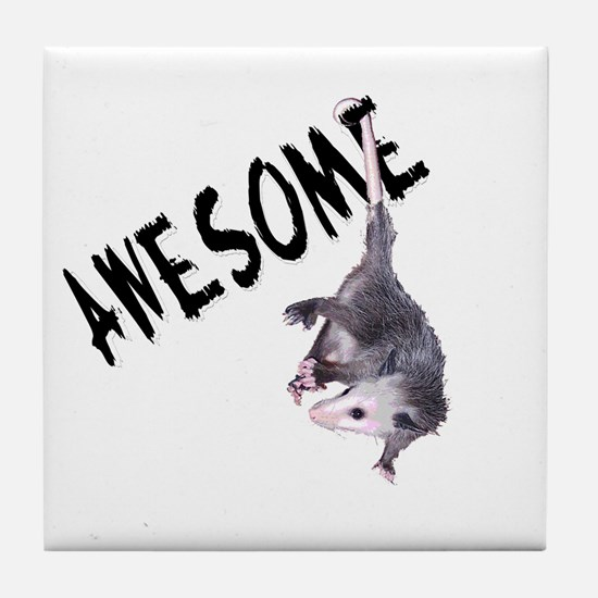 Awesome Possum Tile Coaster