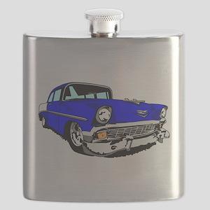 56 Bel Air 2 Door Blue Flask