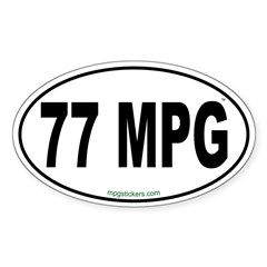 77 MPG Euro Decal