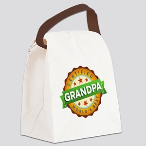 World's Best Grandpa Canvas Lunch Bag