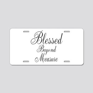 Blessed Beyond Measure Black Aluminum License Plat