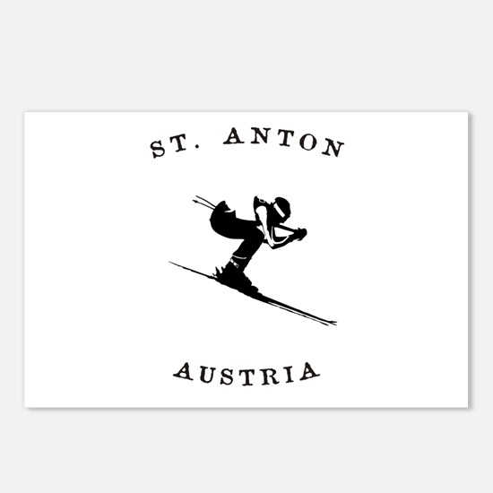 St. Anton Austria Skiing Postcards (Package of 8)