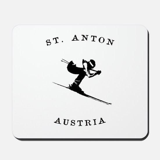 St. Anton Austria Skiing Mousepad