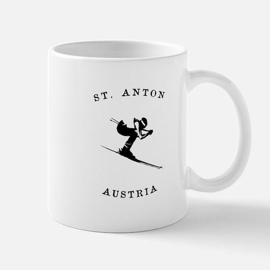 St. Anton Austria Skiing Mugs