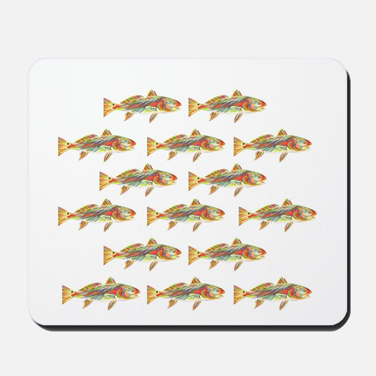 Redfish pattern Mousepad