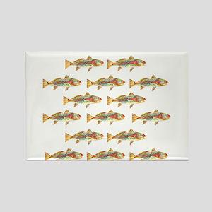 Redfish pattern Magnets