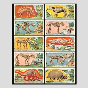 Vintage Dinosaurs v2 Small Poster