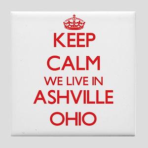 Keep calm we live in Ashville Ohio Tile Coaster