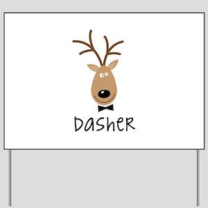 Dasher Yard Sign
