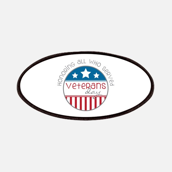 Served Veterans day Patches