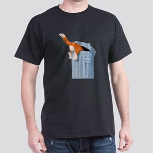 Cat in Trash Can T-Shirt
