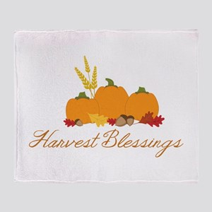Harvest blessings Throw Blanket