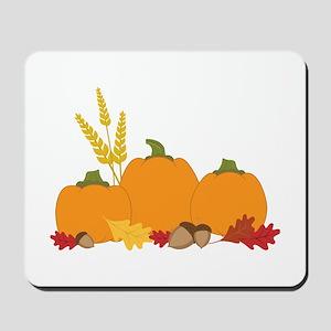 Three Harvest Pumpkins Mousepad