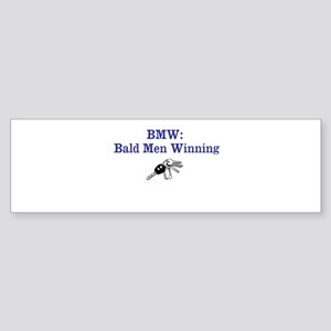 Bmw: Bald Men Winning Bumper Sticker