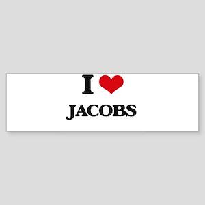 I Love Jacobs Bumper Sticker