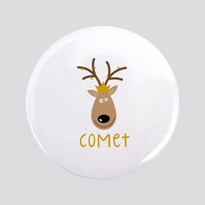 """Comet Reindeer 3.5"""" Button"""