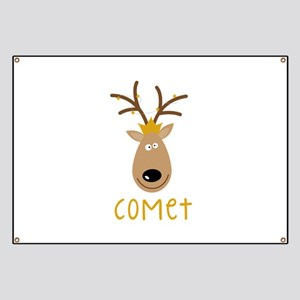 Comet Reindeer Banner