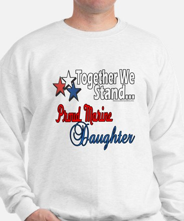 Proud Marine Daughter Sweatshirt