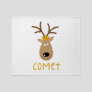 Comet Reindeer Throw Blanket