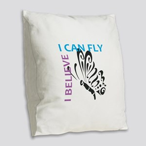 I BELIEVE I CAN FLY Burlap Throw Pillow