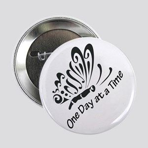 """ONE DAY AT A TIME 2.25"""" Button (10 pack)"""