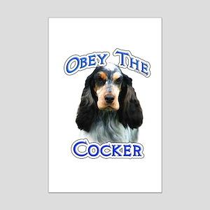 Obey Cocker Mini Poster Print