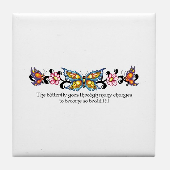 THROUGH MANY CHANGES Tile Coaster
