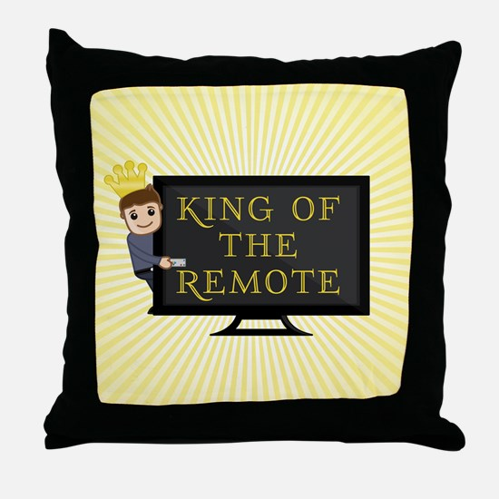 King of the Remote Throw Pillow