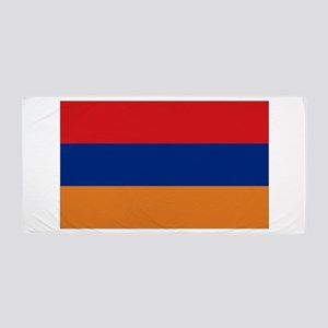 Armenian flag Beach Towel