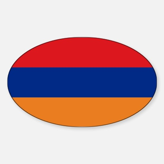Armenian flag Sticker (Oval)