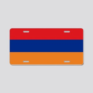 Armenian flag Aluminum License Plate