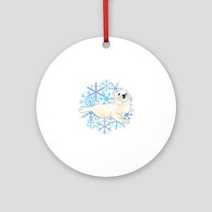 HARP SEAL SNOWFLAKES Ornament (Round)