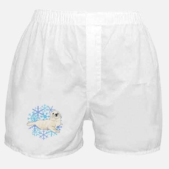 HARP SEAL SNOWFLAKES Boxer Shorts