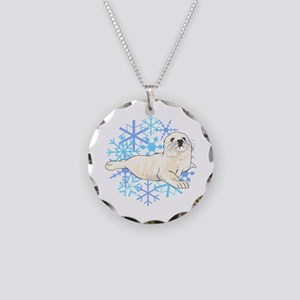 HARP SEAL SNOWFLAKES Necklace