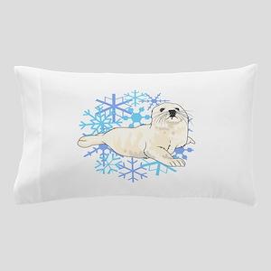 HARP SEAL SNOWFLAKES Pillow Case